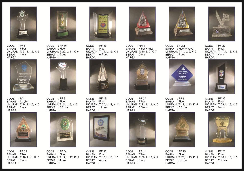 plakat fiber, katalog plakat, katalog piala