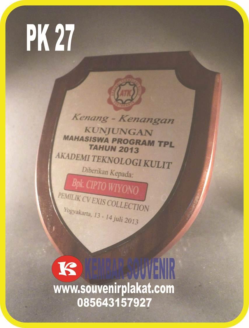 Jual Plakat Kayu Perisai | Plakat Kayu Tameng