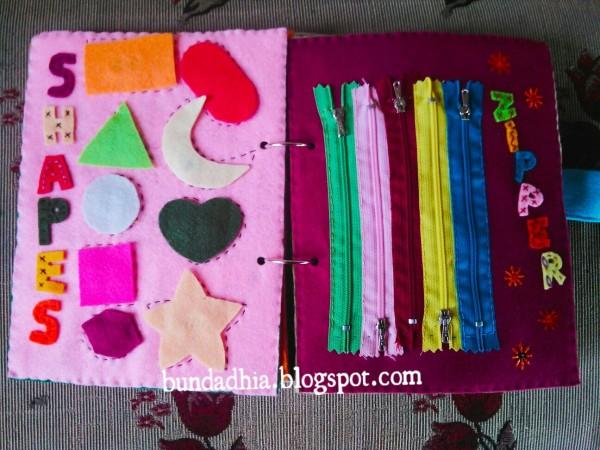 Busy Book, Kerajinan Tangan dari Kain Flanel untuk Mainan Edukatif Balita