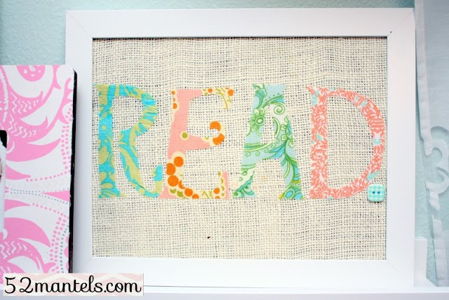 Fabric Word Art