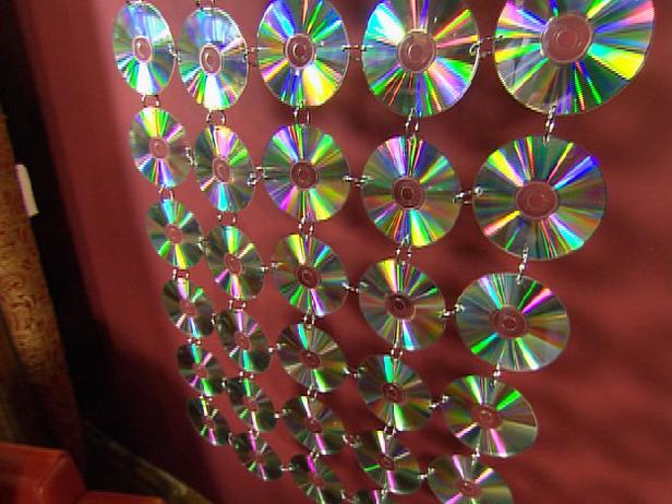 Шторы из дисков своими руками для дома