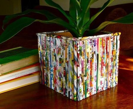 Pot Tanaman dari Majalah