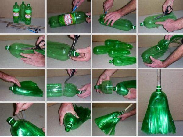 Sapu dari Botol Plastik Bekas