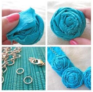 cara membuat kalung dari kain flanel, cara membuat kalung unik, cara membuat kerajinan dari kain flanel