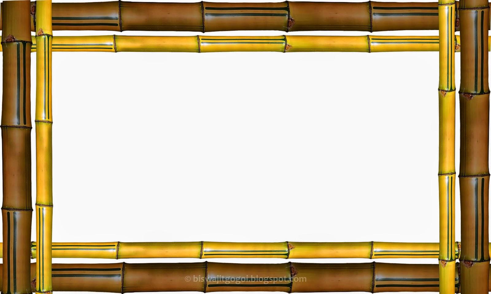 Bingkai Foto Bambu