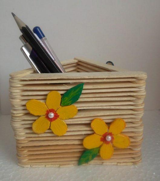 Tempat Pensil- Bunga Matahari Buatan