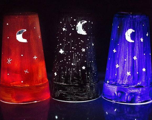 Souvenir Membuat Lampu Malam dari Cup Gelas