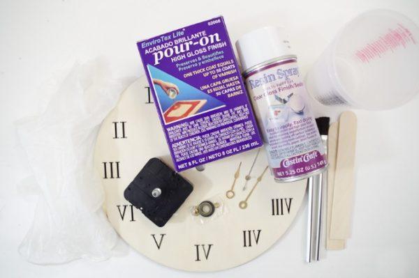 Cara Membuat Souvenir Kerajinan Jam Kayu dari Resin - DIY