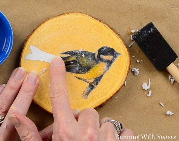 Tutorial Membuat Souvenir Gambar Burung di Kayu-DIY