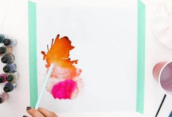 Seni Abstrak DIY Menggunakan Alkohol Tinta - DIY