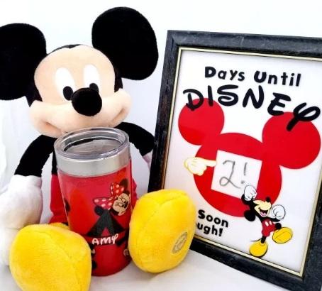 Menghias Tumbler Gelas dengan Kain Disney Mickey Mouse DIY